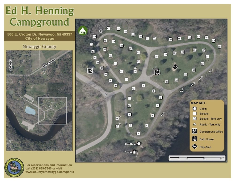 Preview image for Ed Henning Campground Map resource