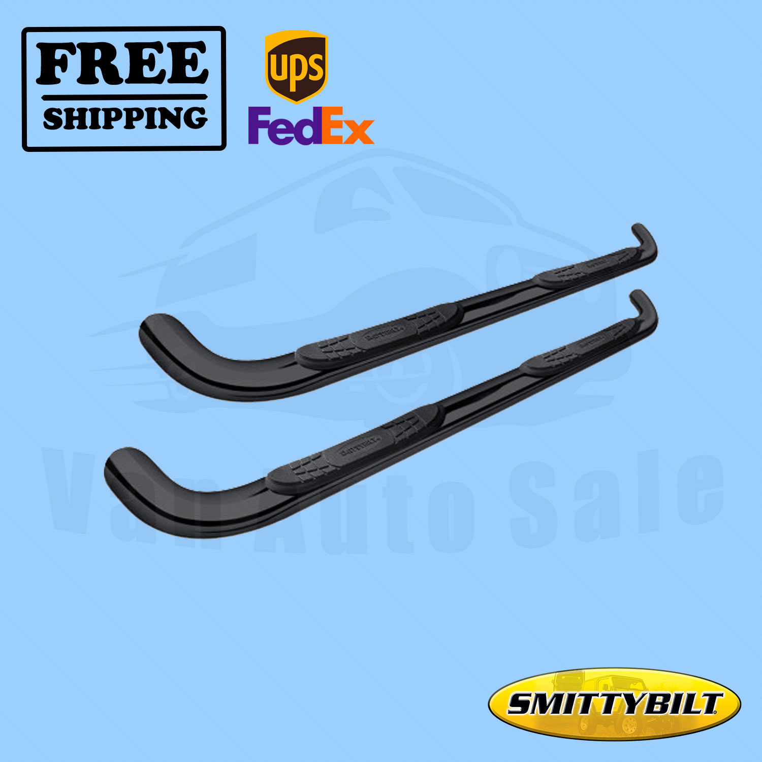 "Mild Steel Black Round 3/""Side Step Nerf Bar//Rail for 2004-2015 Nissan Titan Ext"