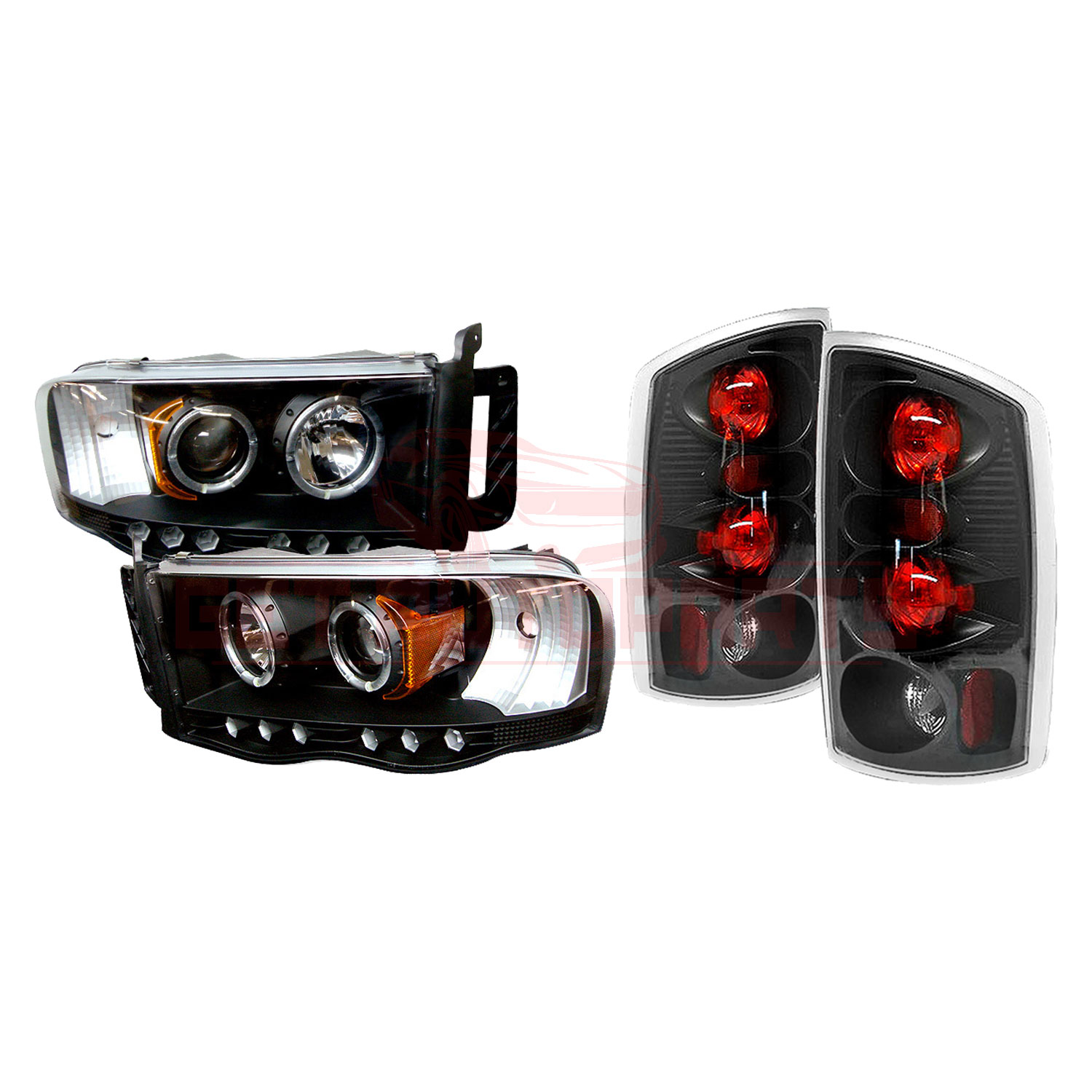 Spyder Halo LED Projector Headlights & Tail Lights for Dodge Ram 02-05 part in Headlight & Tail Light Covers category