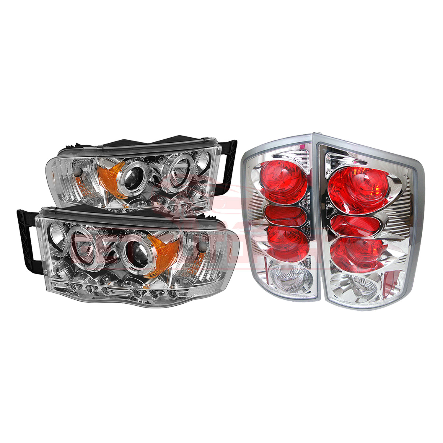 Spyder Halo LED Projector Headlights & Tail Lights for Dodge Ram 2002-05 part in Headlight & Tail Light Covers category