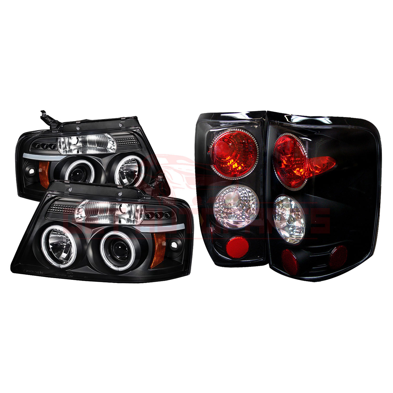 Spyder LED Projector Headlights & Tail Lights Blk for Ford F150 Styleside 04-08 part in Headlight & Tail Light Covers category