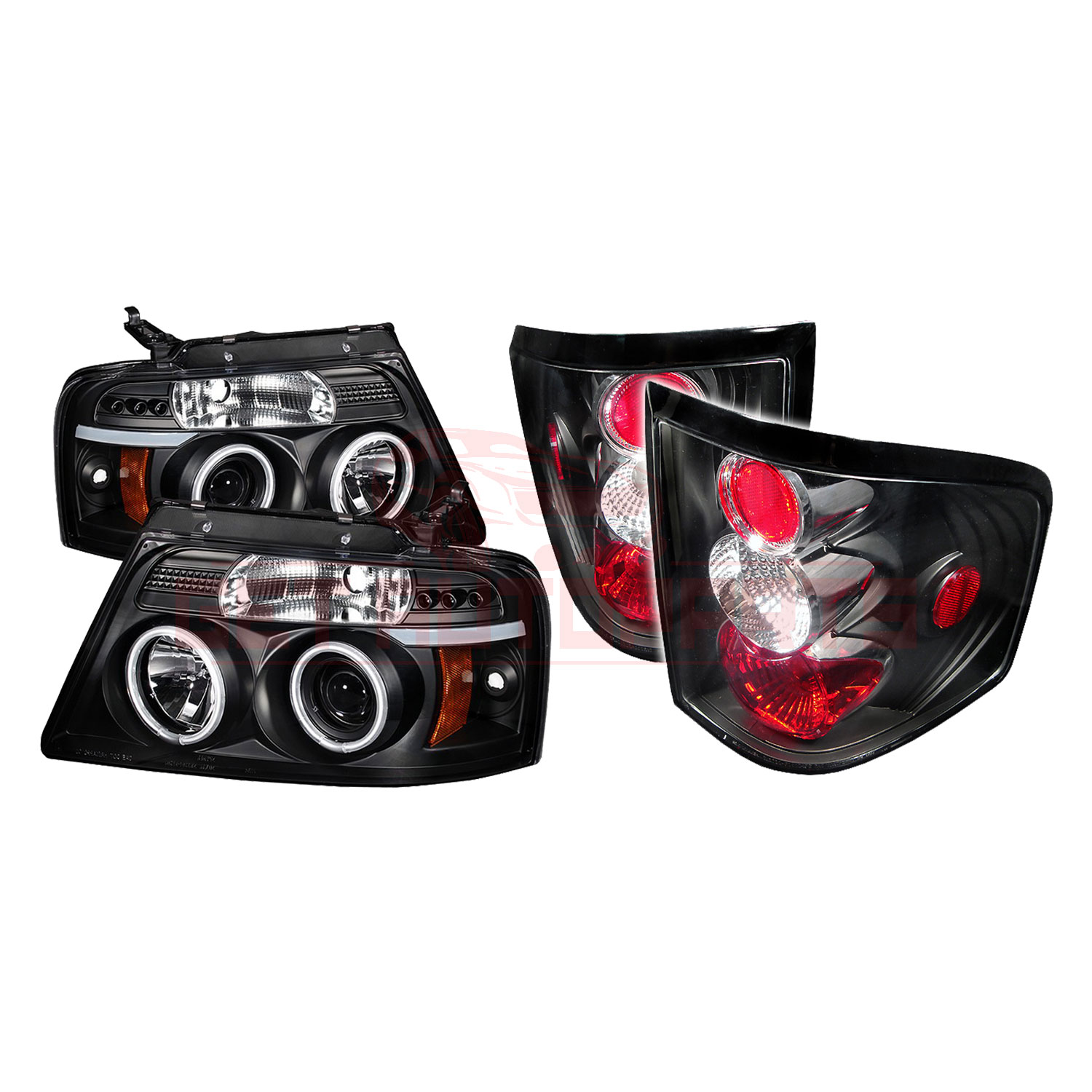 Spyder LED Projector Headlights & Tail Lights Blk for Ford F150 Flareside 04-08 part in Headlight & Tail Light Covers category