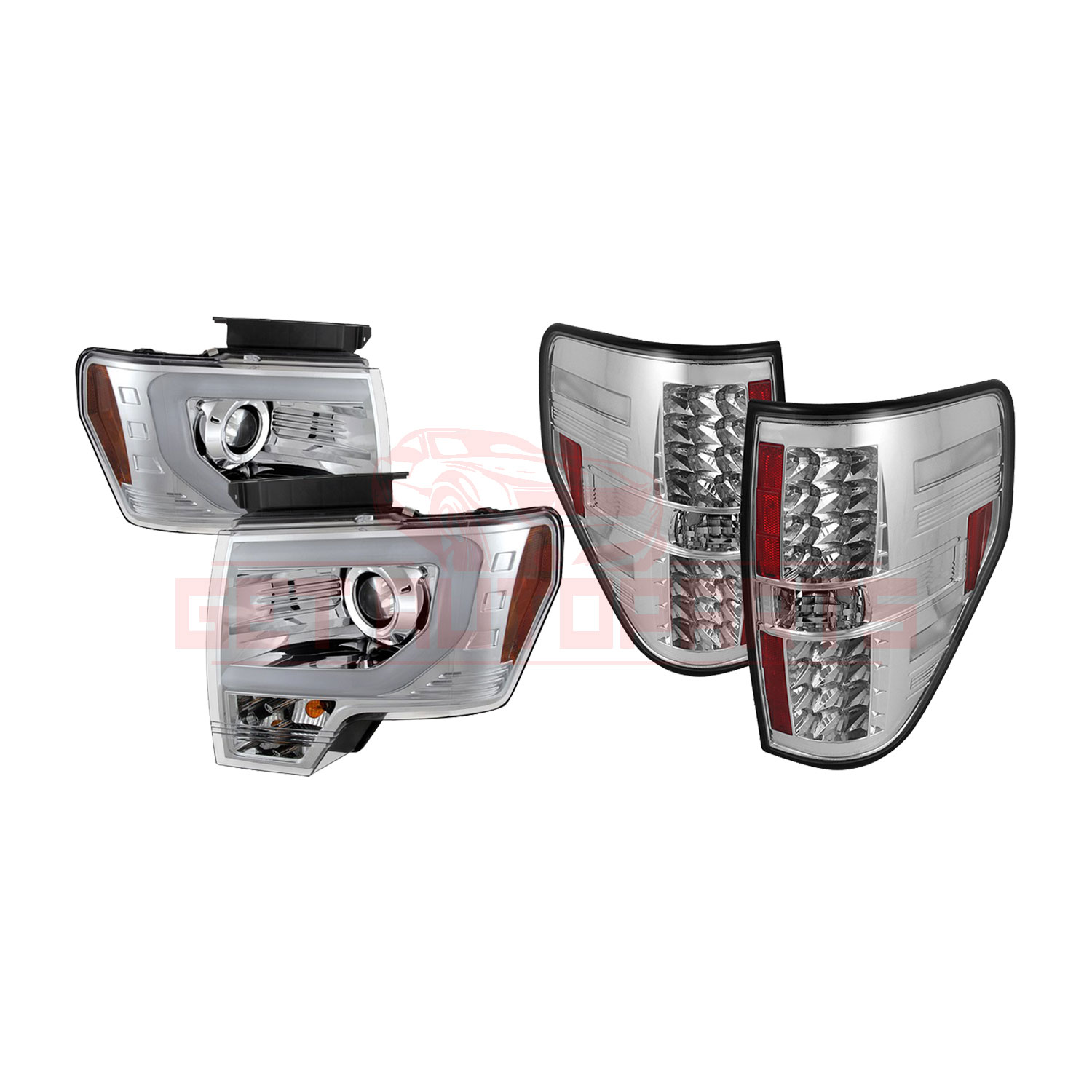 Spyder Projector Headlights & LED Tail Lights for Ford F150 2009-2014 part in Headlight & Tail Light Covers category