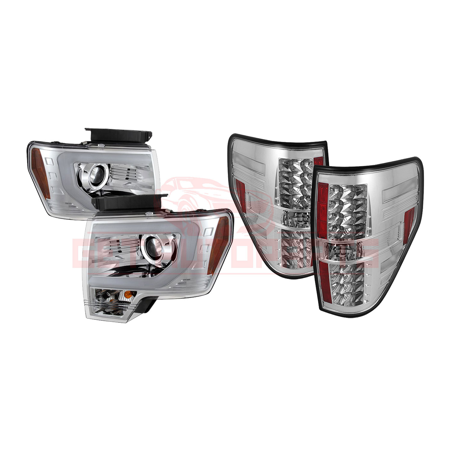 Spyder Projector Headlights & LED Tail Lights for Ford F150 2013-2014 part in Headlight & Tail Light Covers category