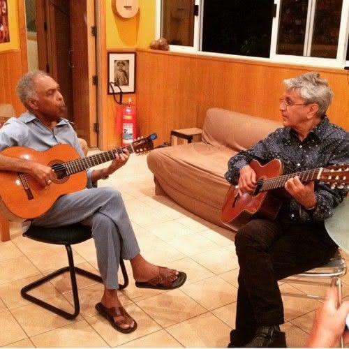 Gil e Caetano ensaiando para a turnê (Foto: Divulgação)