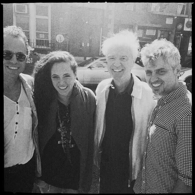 David Byrne, Tiê, Jesse Harris e Mauro Refosco: reencontro em Nova York (Foto: Reprodução)