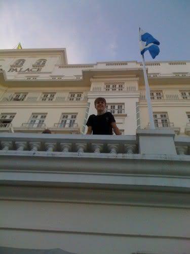 Justin Bieber durante passagem pelo Copacabana Palace (Foto: Reprodução)