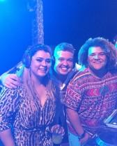 Preta animou a festa de 30 anos da Água de Coco como DJ, ao lado de Renato Thomaz e Gominho (Foto: Reprodução/ Instagram)