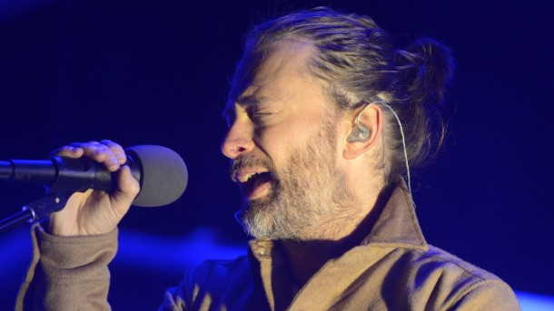 SAN FRANCISCO, CA - OCTOBER 19: Thom Yorke of Atoms for Peace performs as part of the Treasure Island Music Festival on October 19, 2013 in San Francisco, California. (Photo by Tim Mosenfelder/Getty Images)