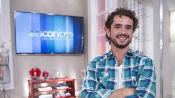 """Andreoli em uma das aparições no estúdio do """"Encontro"""" como colaborador (Foto: TV Globo)"""