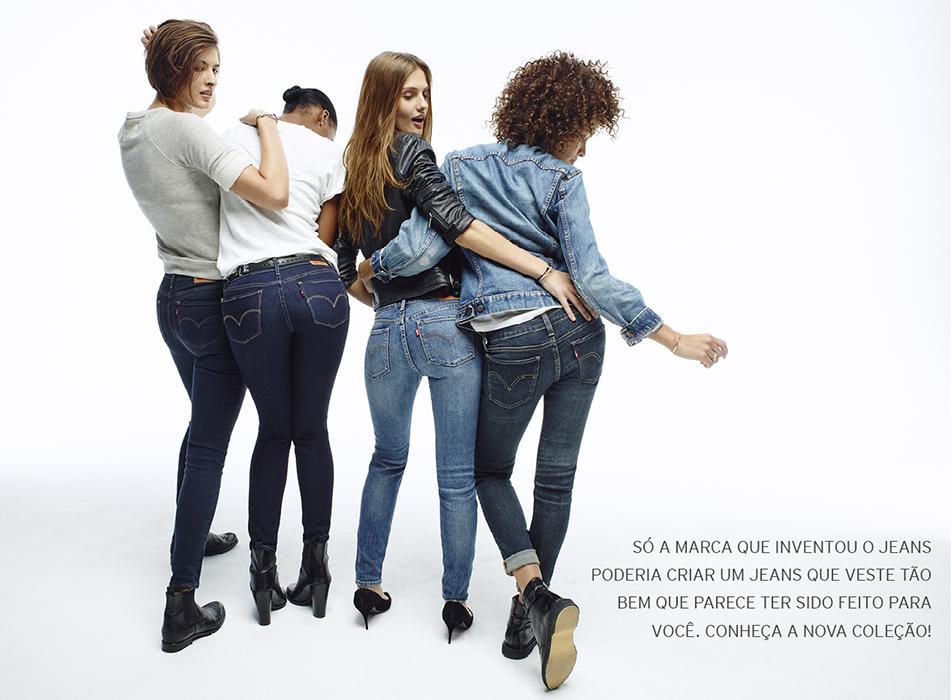 736fcd874a Os 140 anos de experiência em jeans da marca são bagagem para aperfeiçoar  cada vez mais os modelos (Foto  Divulgação)