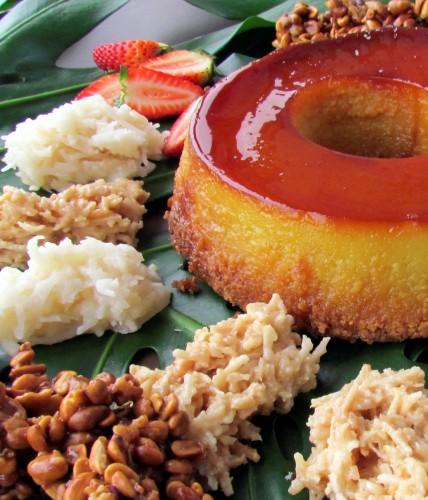 completo buffet de sobremesas inclui, entre outras, quindim, cocada e pudim de leite (Foto: Divulgação)