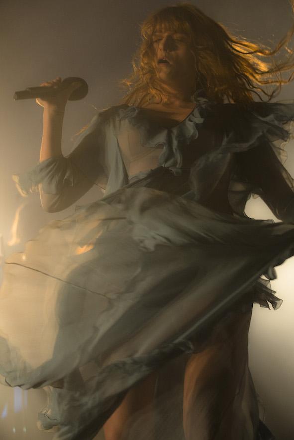 Florence no palco do Metropolitan (Foto: Vinicius Pereira)