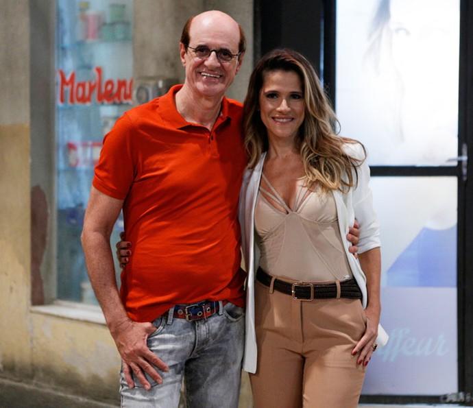 """Marcos Caruso e Ingrid Guimarães em """"Chapa Quente"""" (Foto: Divulgação)"""