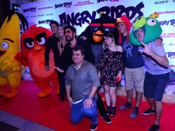 Fábio Porchat, Marcelo Adnet, Dani Calabresa, Pathy dos Reis e Irmãos Piologo são alguns dos dubladores de Angry Birds (Foto: William Oda/AgNews)