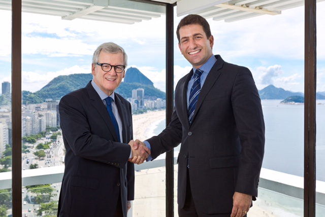 Fernando Chabert, Diretor-Superintendente de Hotéis Othon, e Bruno Heleno, novo Gerente Geral Corporativo de Vendas e Marketing (Foto: Divulgação)