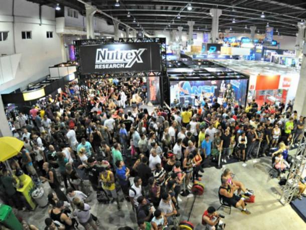 O evento possui a maior feira de suplementação da América Latina (Foto: Reprodução)