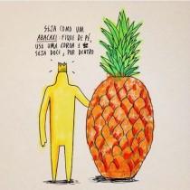 O conceito de riscar palavras está além de identidade gráfica, segundo o autor (Foto: Instagram)