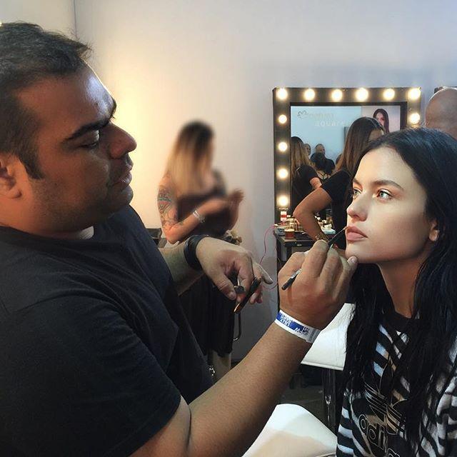 No backstage do São Paulo Fashion Week (Foto: Reprodução/Instagram)