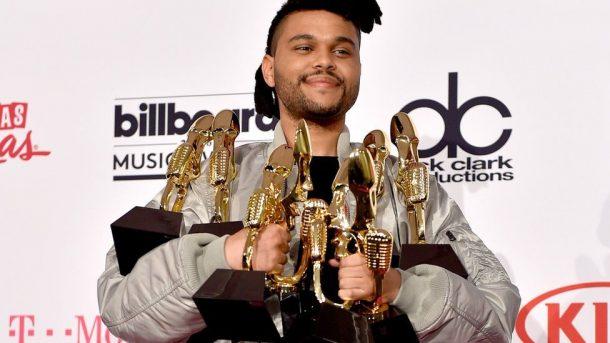 O grande vencedor da noite, The Weeknd (Foto: Divulgação)