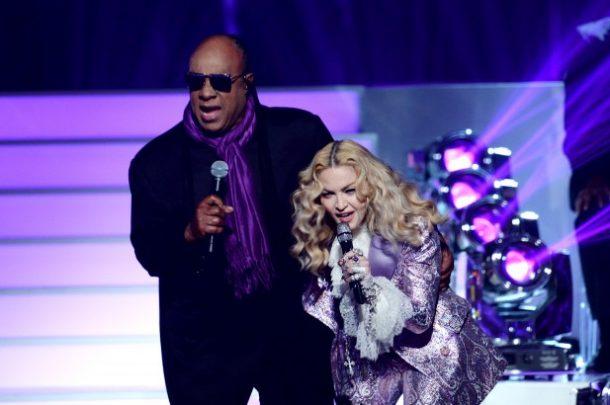 Madonna e Stevie Wonder (Foto: Divulgação)
