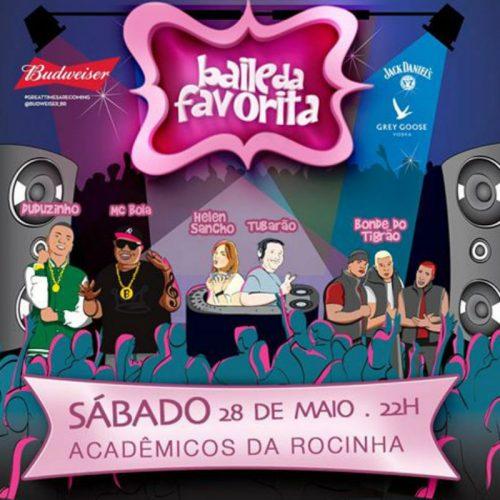 Este sábado tem Baile da Favorita na quadra da Acadêmicos da Rocinha, no Rio (Foto: Digulgação)