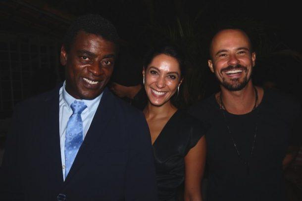 Seu Jorge, Kessey Esteves e Paulinho Vilhena (Foto: Marcelo Boldrin/Divulgação)