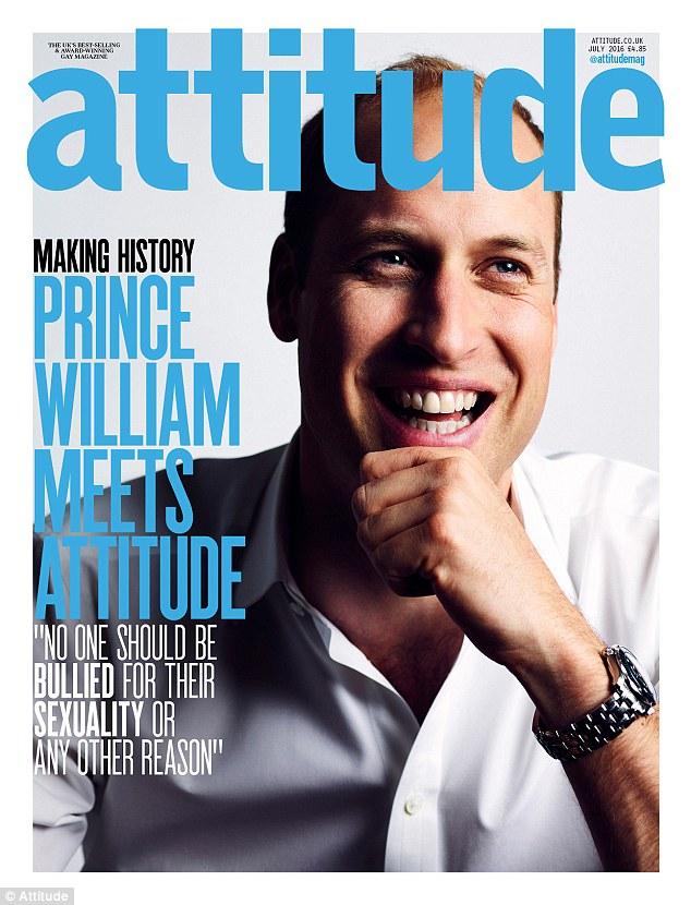 """Príncipe William é capa da revista """"Attitude"""", de junho (Foto: Divulgação)"""