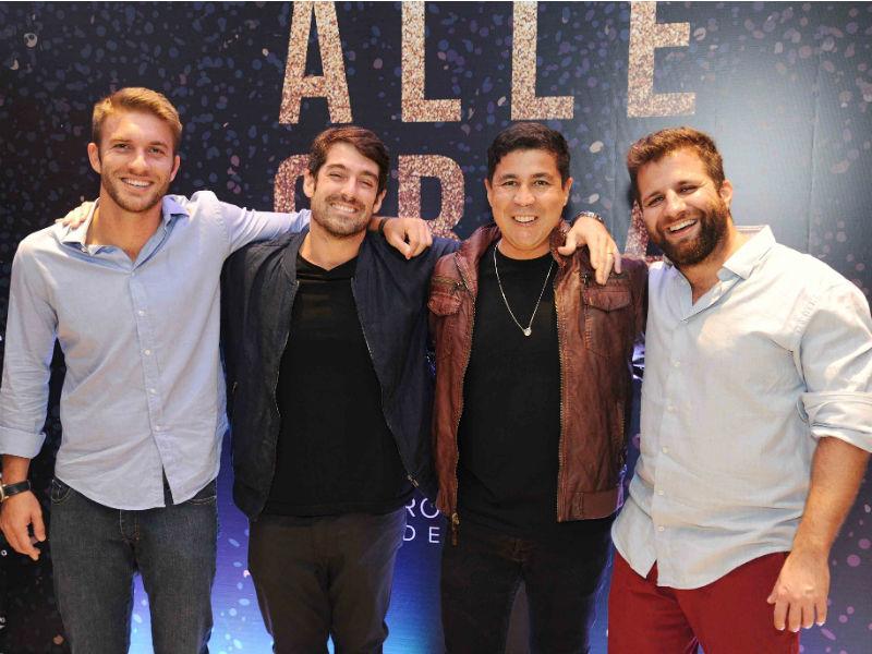 Os sócios e responsáveis pelo evento: Guilherme Vianna, Antônio Carlos Almeida, Diógenes de Queiroz e André Barros (Foto: Ary Kaye)