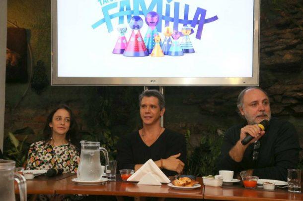 A diretora Dani Gleiser, Márcio Garcia e o redator Elbio Valente (Foto: AgNews)