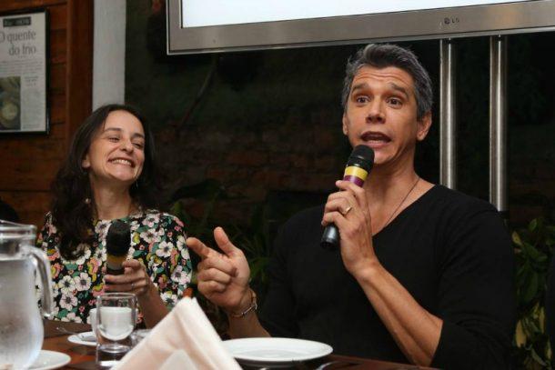 Dani Gleiser e Márcio Garcia (Foto: AgNews)