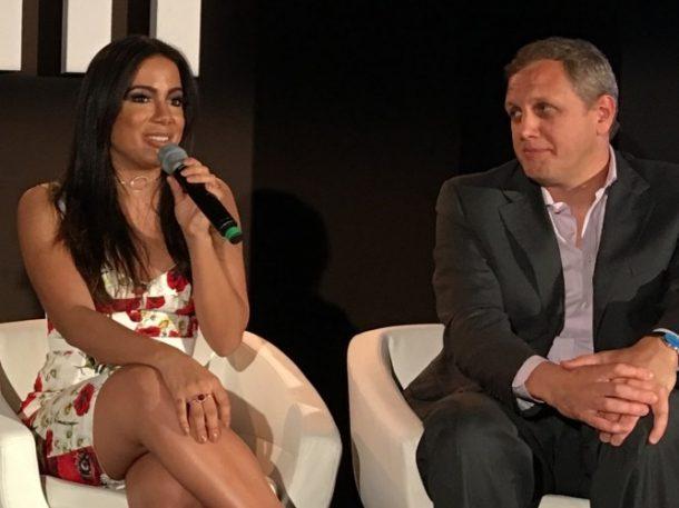 Anitta durante a conferência Midem, em Cannes (Foto: Divulgação)