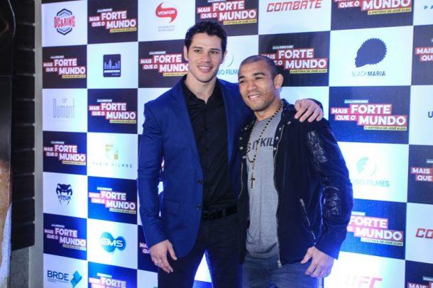 José Loreto e José Aldo (Foto: AgNews)
