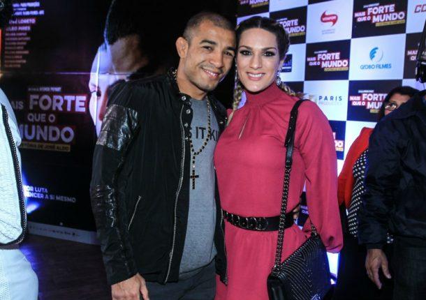 José Aldo e a esposa Vivianne Oliveira (Foto: AgNews)