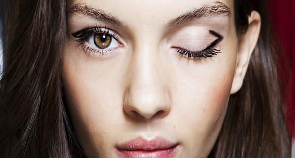 A maquiagem nessa temporada é inspirada na geometria, onde as linhas são harmônicas e sutis (Foto: Reprodução)