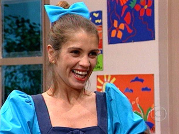"""Tássia como Maria da Glória na """"Escolinha do Professor Raimundo"""" (Foto: Divulgação)"""