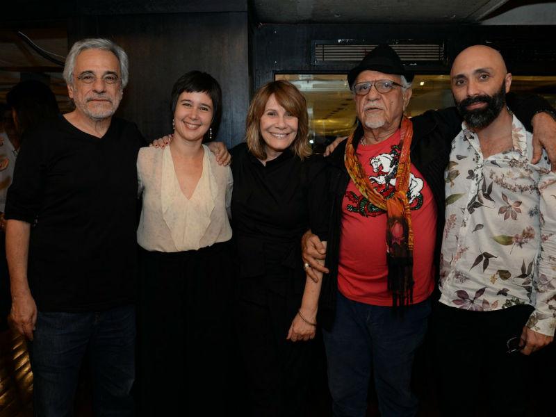 Aderbal Freire-Filho, Sandra Delgado, Renata Sorrah, Amir Haddad e Marcio Abreu (Foto: Leo Marinho/Brazil News)