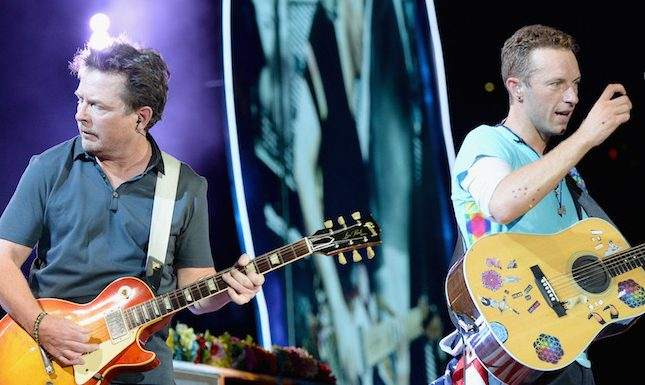Michael J. Fox e Chris Martin  (Foto: Divulgação)
