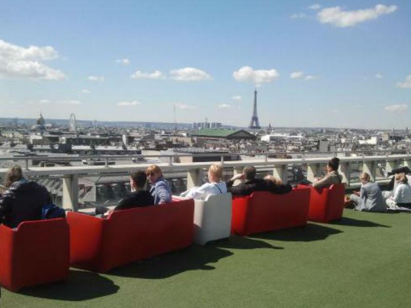 Terraço da Galeries Lafayette (Foto: Reprodução)