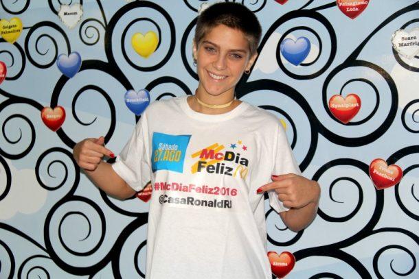 Isabella Santoni na Casa Ronald (Foto: Divulgação)