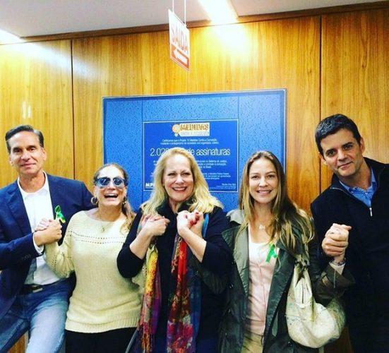 Victor Fasano, Susana Vieira, Lucinha Lins, Luana Piovani e Jorge Pontual (Foto: Divulgação)