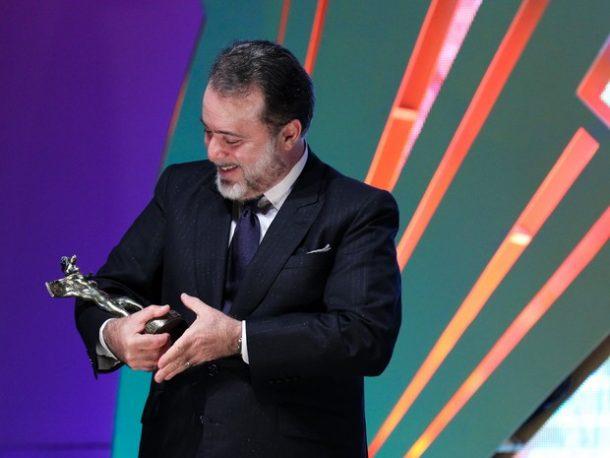 Tony Ramos recebeu o Troféu Cidade de Gramado (Foto: Edison Vara/Pressphoto)