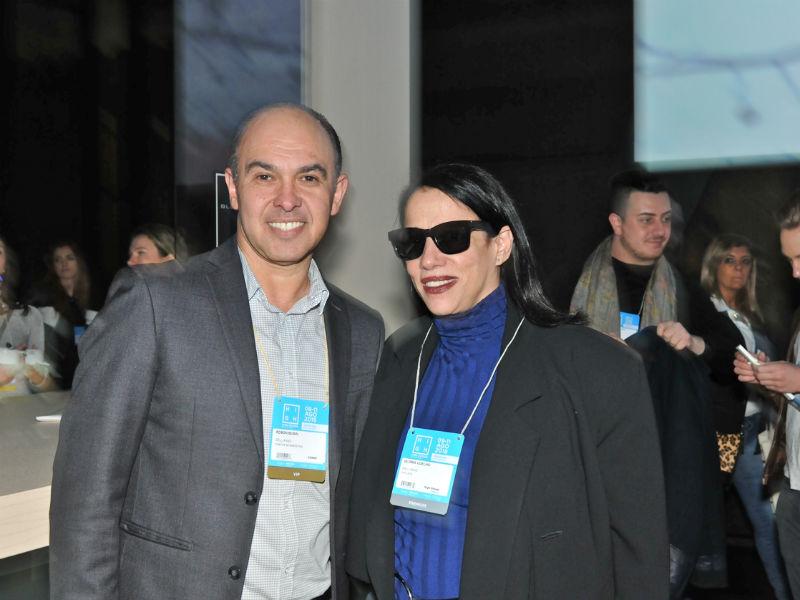Edson Busin, diretor da Dell Anno, e a estilista Glória Coelho (Foto: Divulgação)