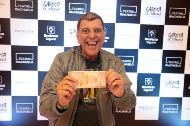 O diretor Jorge Fernando prestigiou o espetáculo (Foto: Felipe Panfili)