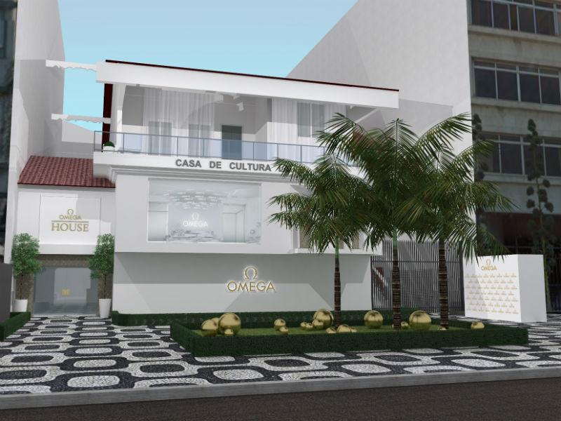Fachada da Casa de Cultura Lauro Alvim para a Omega House (Foto: Divulgação)
