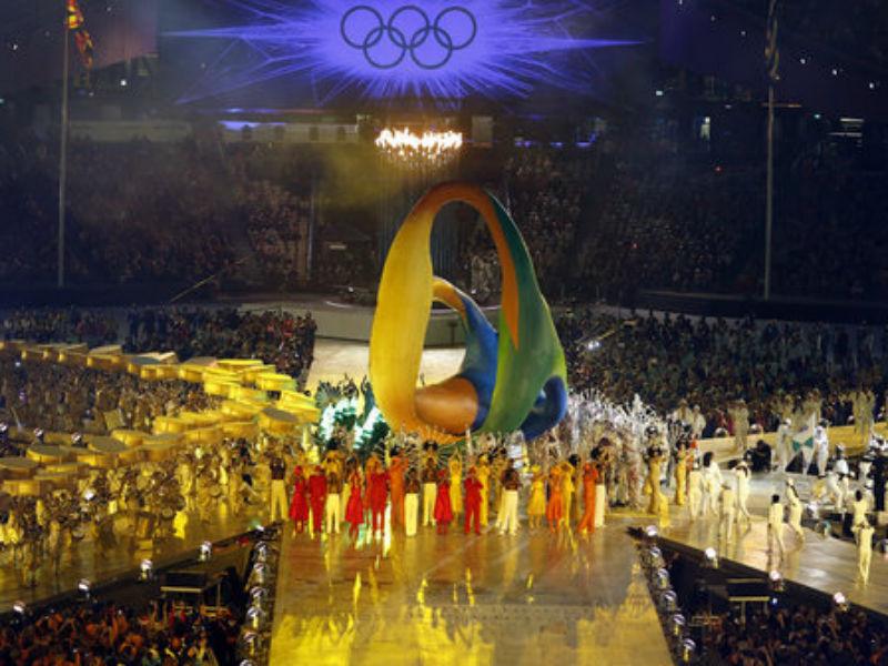 Brasil sendo representado na cerimônia de encerramento de Londres, em 2012 (Foto: Reprodução)