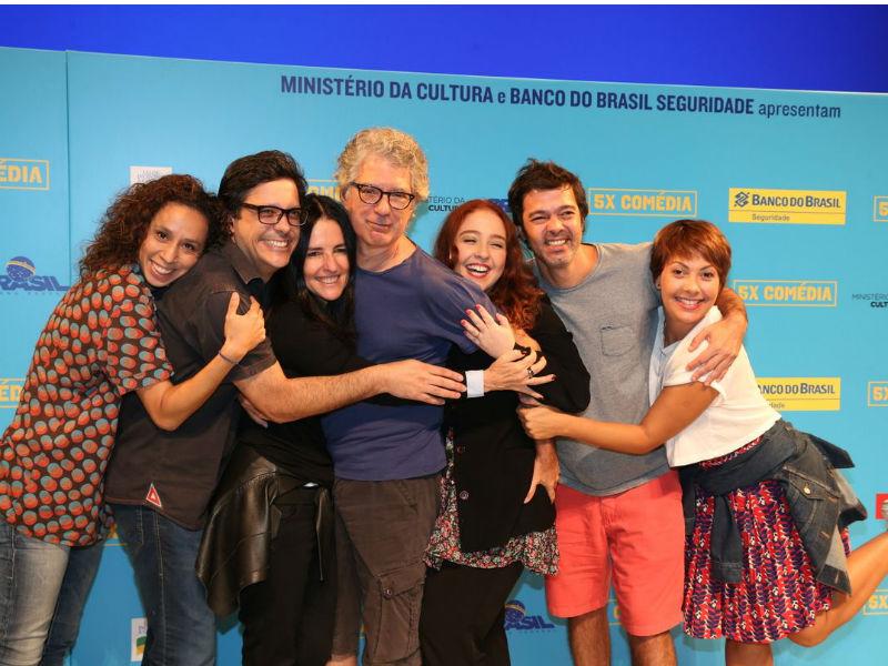 Thalita Carauta, Lúcio Mauro Filho, Monique Gardenberg, Hamilton Vaz Pereira, Debora Lamm, Bruno Mazzeo e Fabiula Nascimento (Foto: Andre Freitas/AgNews)