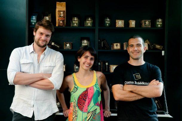 Felipe Metz, Priscila Lagden e Renato lagden (Foto: Guilherme Ribas)