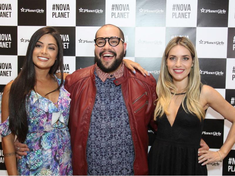 Aline Riscado, Thiago Abravanel e Monique Alfradique na inauguração da loja-conceito da Planet Girls For You (Foto: Paduardo / Phábrica de Imagens)