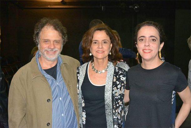 Isaac Bernat, Marieta Severo e Silvia Buarque (Foto: Leo Ladeira